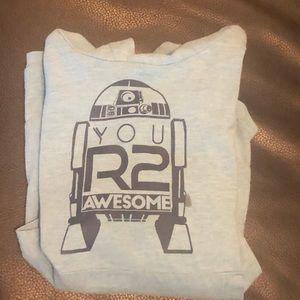 R2d2 hooded shirt
